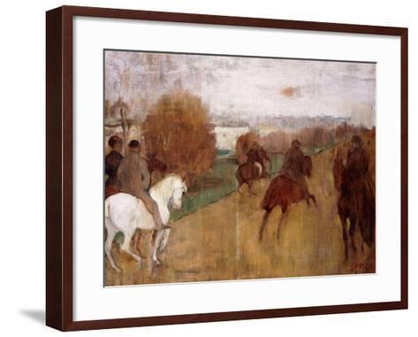 Horse Riders on a Road, 1864-68-Edgar Degas-Framed Art Print
