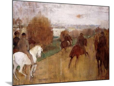 Horse Riders on a Road, 1864-68-Edgar Degas-Mounted Giclee Print