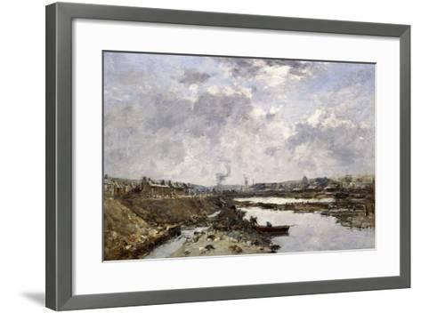 Fecamp, L'Arriere-Port En Construction, 1883-Eug?ne Boudin-Framed Art Print