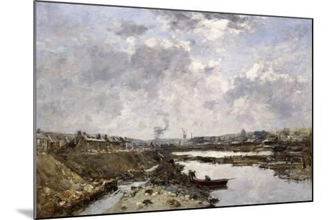 Fecamp, L'Arriere-Port En Construction, 1883-Eug?ne Boudin-Mounted Giclee Print