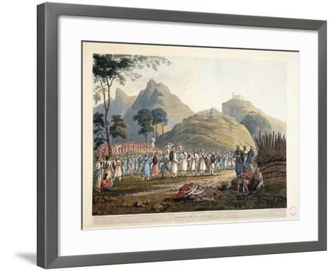 Assemblage of Ghoorkas, 1820-James Baillie Fraser-Framed Art Print