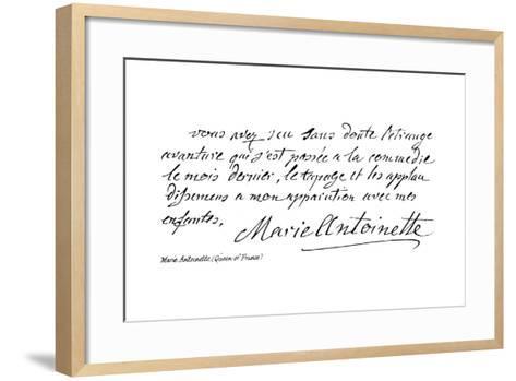 Marie Antoinette--Framed Art Print