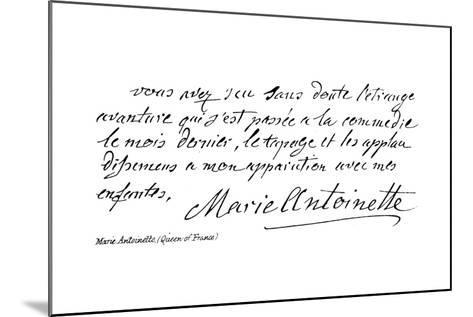 Marie Antoinette--Mounted Giclee Print