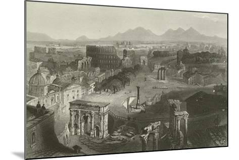 Ruins of Ancient Rome--Mounted Giclee Print