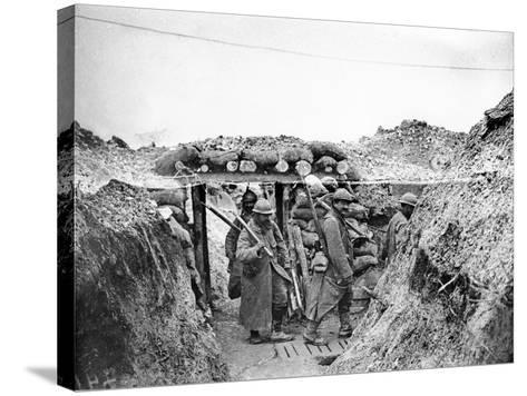 Relief Soldiers in a Trench in Champagne, 1915-16-Jacques Moreau-Stretched Canvas Print