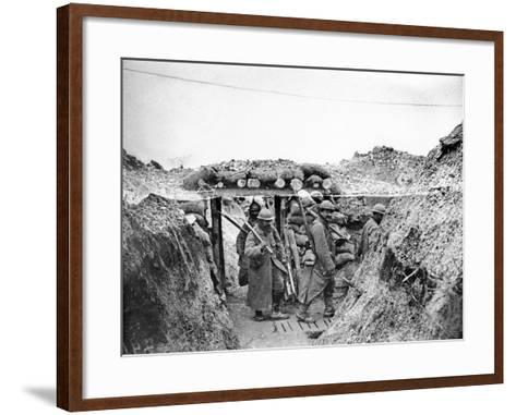 Relief Soldiers in a Trench in Champagne, 1915-16-Jacques Moreau-Framed Art Print