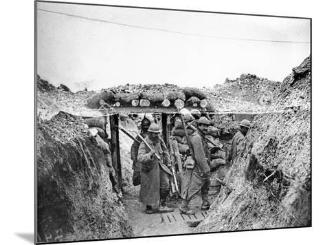 Relief Soldiers in a Trench in Champagne, 1915-16-Jacques Moreau-Mounted Photographic Print