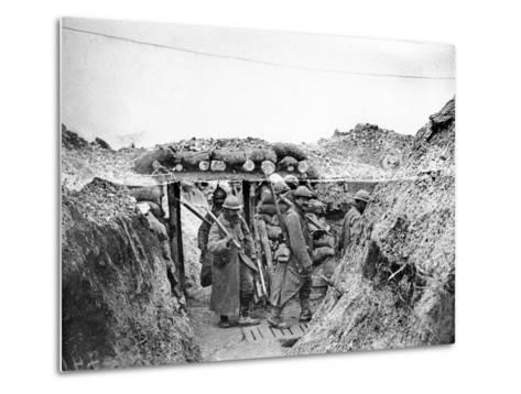 Relief Soldiers in a Trench in Champagne, 1915-16-Jacques Moreau-Metal Print