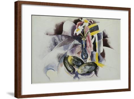 Flowers and Cucumbers-Charles Demuth-Framed Art Print
