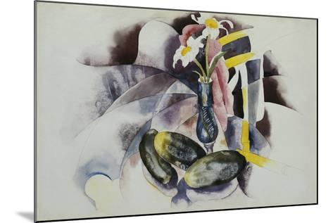 Flowers and Cucumbers-Charles Demuth-Mounted Giclee Print