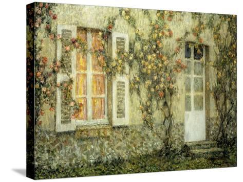 The House of Roses; Les Maison Aux Roses, 1936-Henri Eugene Augustin Le Sidaner-Stretched Canvas Print