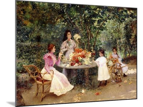 Teatime in the Garden-Edouard Frederic Wilhelm Richter-Mounted Giclee Print