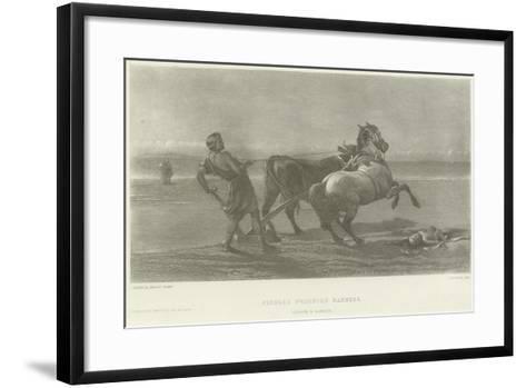 Ulysses Feigning Madness-Heywood Hardy-Framed Art Print