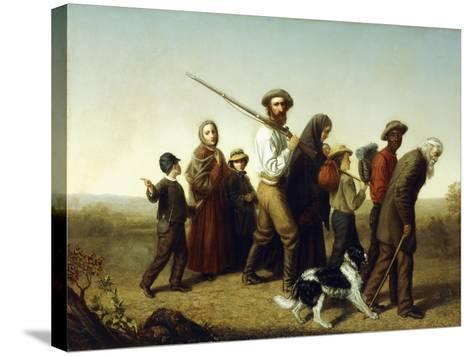 Union Refugees, 1865-George W. Pettit-Stretched Canvas Print