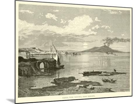 Naples, with Vesuvius, from Posilippo--Mounted Giclee Print