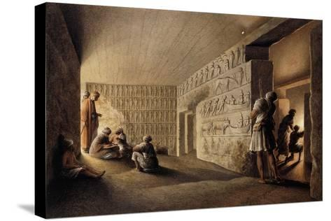 Figures in Egyptian Tombs-Luigi Mayer-Stretched Canvas Print
