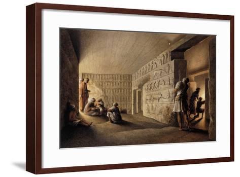Figures in Egyptian Tombs-Luigi Mayer-Framed Art Print