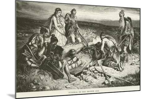 Funeral in the Bronze Age--Mounted Giclee Print