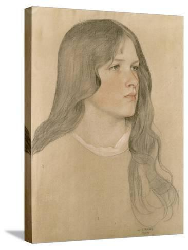 Portrait of a Girl, 1904-William Strang-Stretched Canvas Print