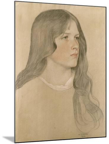 Portrait of a Girl, 1904-William Strang-Mounted Giclee Print