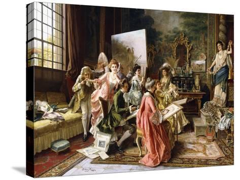 The Art Class-Arturo Ricci-Stretched Canvas Print