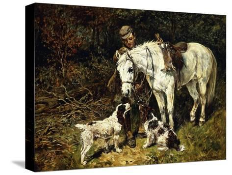 After the Hunt-John Emms-Stretched Canvas Print