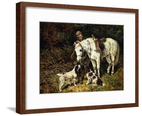 After the Hunt-John Emms-Framed Art Print