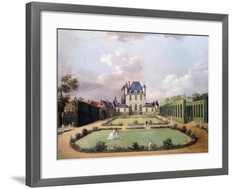 Views of the Chateau De Mousseaux and its Gardens-Jean-Francois Hue-Framed Art Print