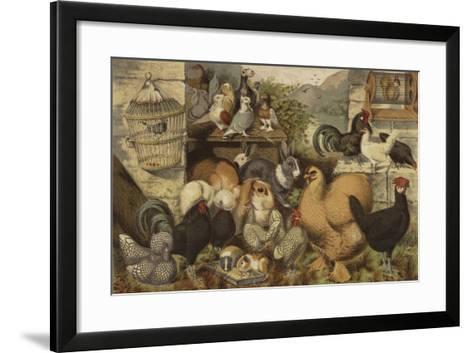 Boys' Pets--Framed Art Print