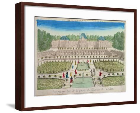 View of the Grotto at the Chateau of Meudon--Framed Art Print