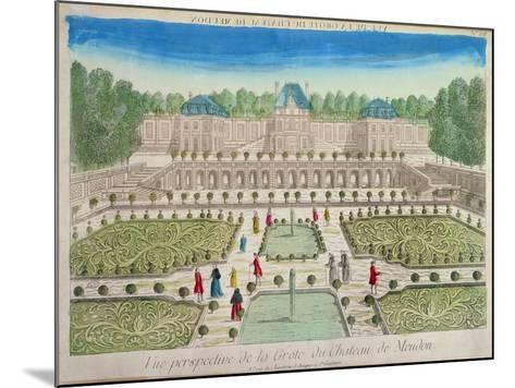 View of the Grotto at the Chateau of Meudon--Mounted Giclee Print