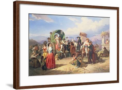 Peasants of the Campagna, 1860-Robert Alexander Hillingford-Framed Art Print