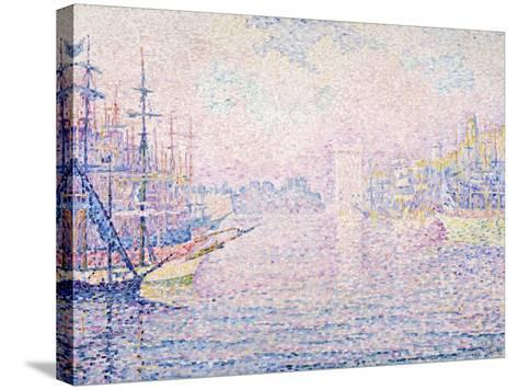 Marseille Port, Morning Mist, 1906-Paul Signac-Stretched Canvas Print