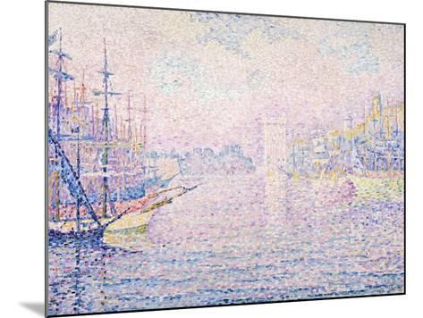 Marseille Port, Morning Mist, 1906-Paul Signac-Mounted Giclee Print