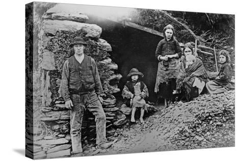 An Evicted Family at Glenbeigh, Ireland, 1888-Francis Guy-Stretched Canvas Print