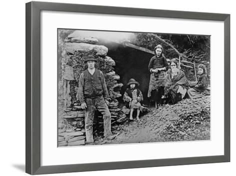 An Evicted Family at Glenbeigh, Ireland, 1888-Francis Guy-Framed Art Print