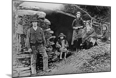An Evicted Family at Glenbeigh, Ireland, 1888-Francis Guy-Mounted Giclee Print
