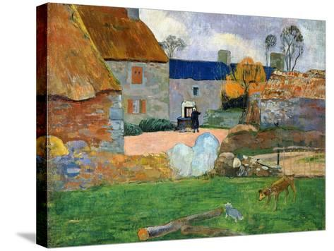 The Blue Roof or Pouldu Farm, 1890-Paul Gauguin-Stretched Canvas Print