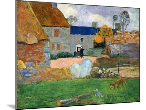 The Blue Roof or Pouldu Farm, 1890-Paul Gauguin-Mounted Giclee Print