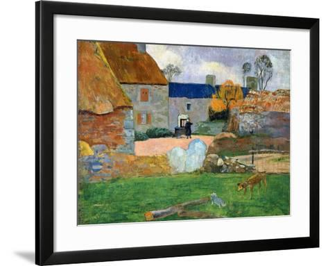 The Blue Roof or Pouldu Farm, 1890-Paul Gauguin-Framed Art Print