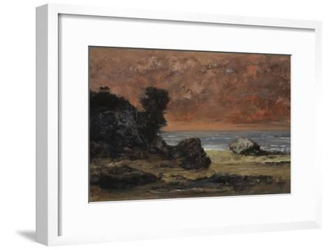 After the Storm, 1872-Gustave Courbet-Framed Art Print