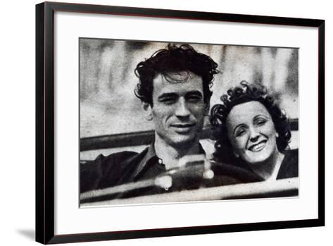 Portrait of Edith Piaf-French Photographer-Framed Art Print
