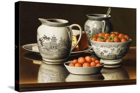 Still Life with Porcelain and Strawberries-Levi Wells Prentice-Stretched Canvas Print