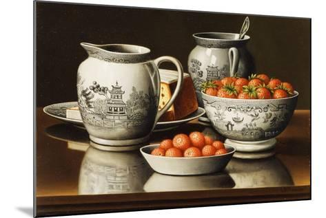 Still Life with Porcelain and Strawberries-Levi Wells Prentice-Mounted Giclee Print