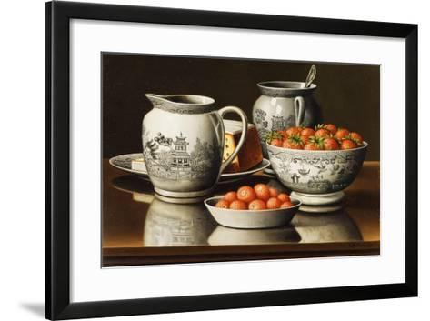 Still Life with Porcelain and Strawberries-Levi Wells Prentice-Framed Art Print