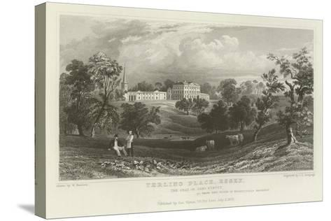 Terling Place, Essex, the Seat of General Strutt-William Henry Bartlett-Stretched Canvas Print