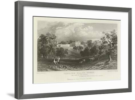 Terling Place, Essex, the Seat of General Strutt-William Henry Bartlett-Framed Art Print