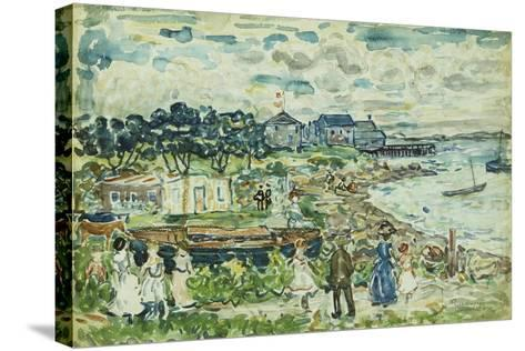 The Cove-Maurice Brazil Prendergast-Stretched Canvas Print