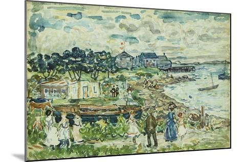 The Cove-Maurice Brazil Prendergast-Mounted Giclee Print