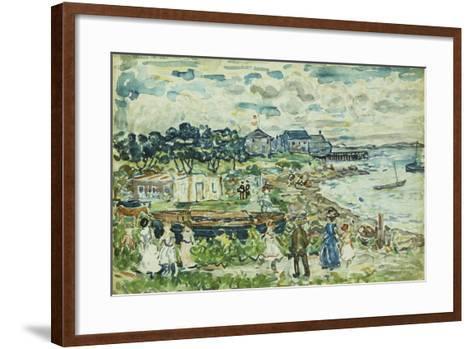The Cove-Maurice Brazil Prendergast-Framed Art Print